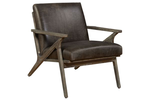 Large image of Hooker Furniture Living Room Wylie Exposed Distressed Grey Wood Chair - CC571-097