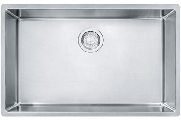 Large image of Franke Cube Undermount Stainless Steel Kitchen Sink - CUX11027