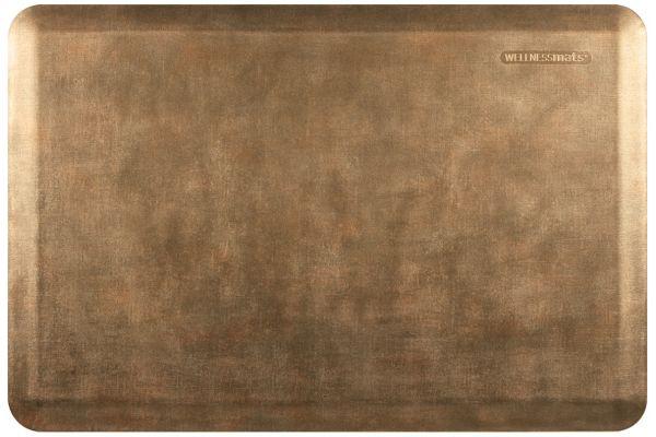 Large image of WellnessMats Linen Collection 3x2 Burnished Copper Mat - EL32WMRBGBRN