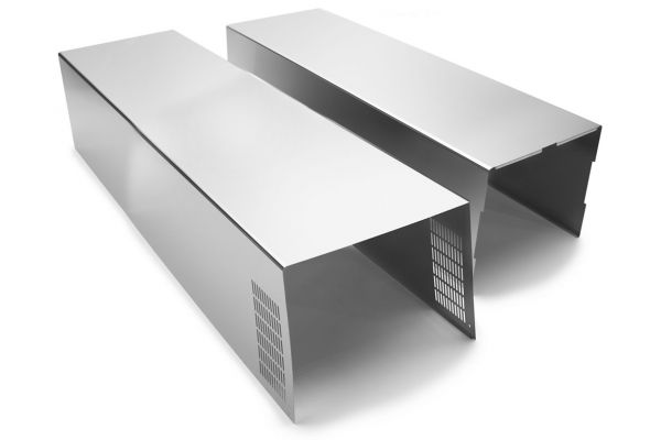 Large image of Whirlpool Stainless Steel Wall Hood Chimney Extension Kit - EXTKIT18FS