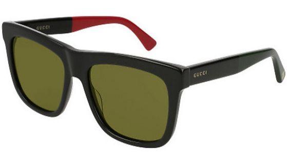 b2ae11ee7a4 Gucci Black Square Acetate Mens Sunglasses - GG00158S 004 54