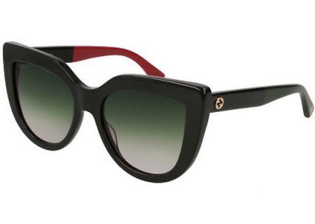 a85adb08aeb5e Gucci Black Cat Eye Acetate Womens Sunglasses - GG00164S 003 53