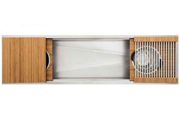 """Large image of The Galley 72"""" Bamboo Ideal Workstation 6 Single Bowl Sink Kit - IWS-6-S-BA"""