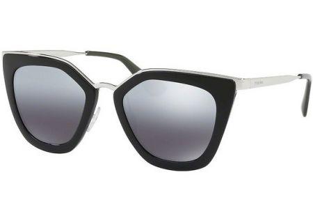 Prada Black Cat Eye Polarized Womens Sunglasses - 0PR 53SS 1AB6R2 52