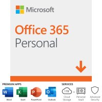 Microsoft Office 365 Personal, 12-Month Subscription, 1 Person,  PC/Mac Download