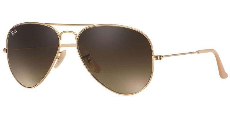 f13468f5a000 Ray-Ban Large Metal Gold Aviator Unisex Sunglasses - RB3025 112 85 58