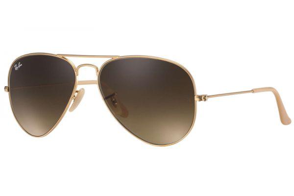 Ray-Ban Large Metal Gold Aviator Unisex Sunglasses - RB3025 112/85 58