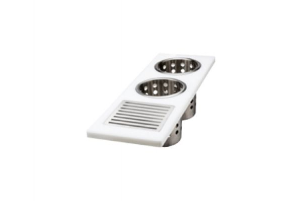 Large image of The Galley White Upper-Tier Utensil Caddy - UC-06-U-WH