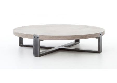 Four Hands Bina Mercury Round Coffee Table - VBNA-CT415