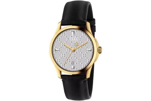 Gucci G-Timeless Black Leather Ladies Watch - YA1264027