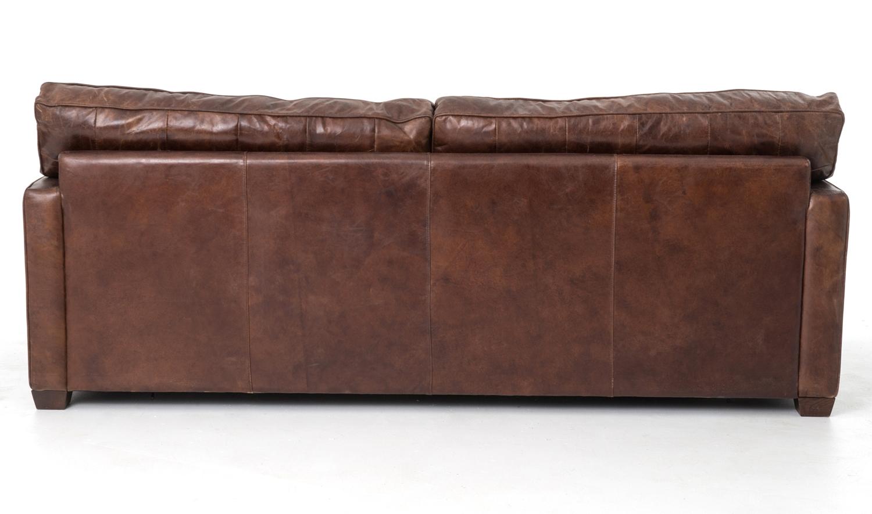 Four Hands 88 Quot Cigar Brown Leather Larkin Sofa Ccar 25