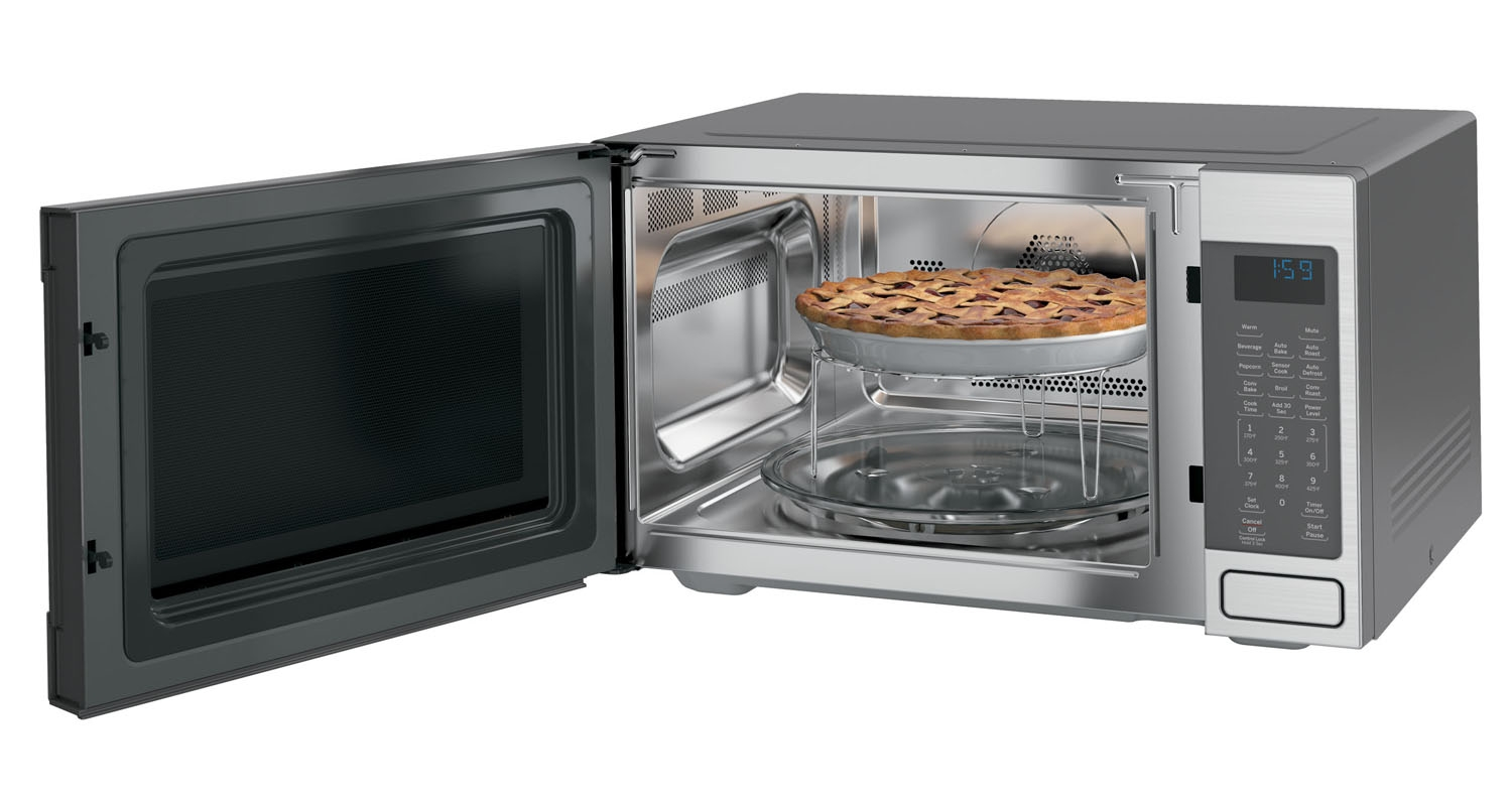 stainless steel p kitchenaid in countertops home cu electric oven ft range watts en slide microwave countertop convection