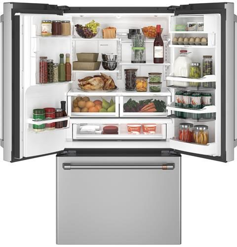 Cafe 22 2 Cu  Ft  Stainless Steel Counter-Depth French Door Refrigerator