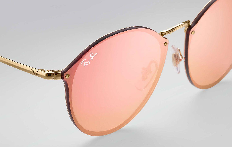 2f3ff088a1 Ray-Ban Blaze Round Pink Mirror Womens Sunglasses - RB3574N 001 E4 59