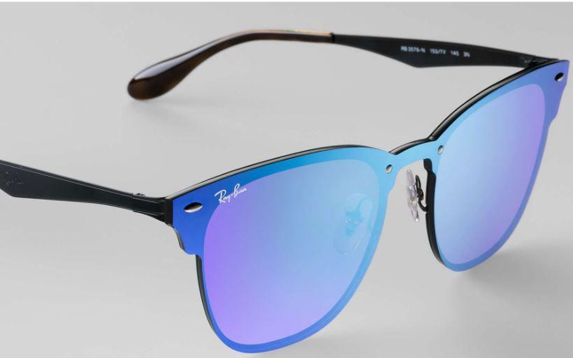 dbe16441b36bd Ray-Ban Blaze Clubmaster Violet Blue Sunglasses - RB3576N 153 7V 10-47