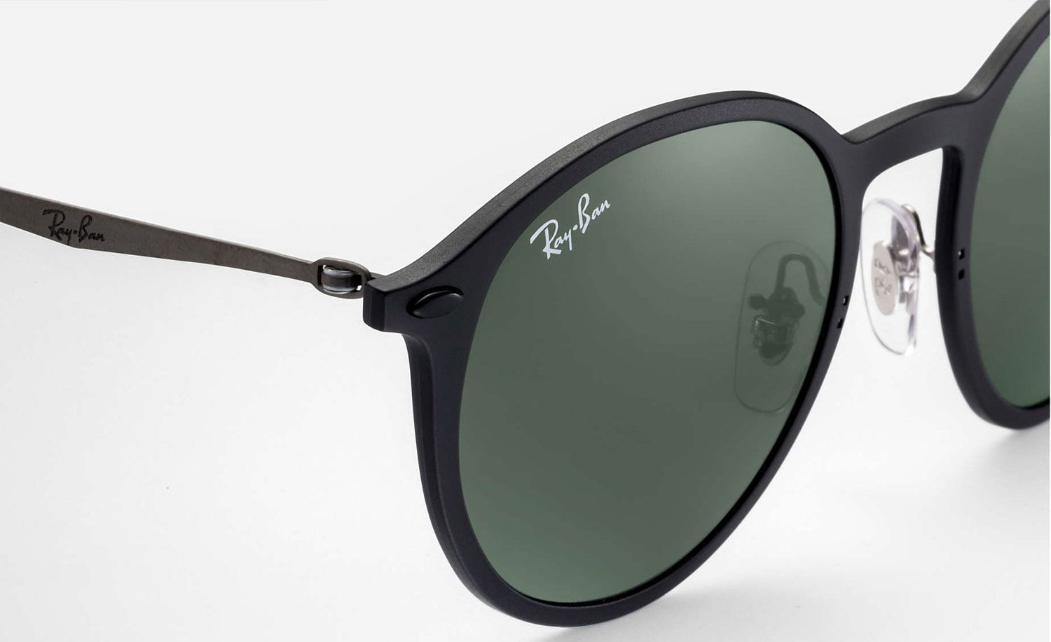 278133a788 Ray-Bans Round Light Ray Green Classic Sunglasses - RB4224 601S71