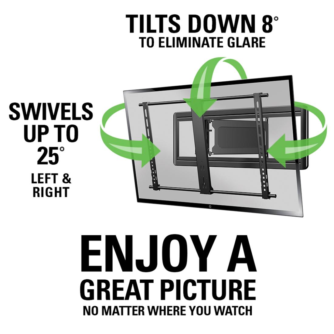 Sanus Slim Full Motion Black Flat Panel Tv Mount Vlf613 B1