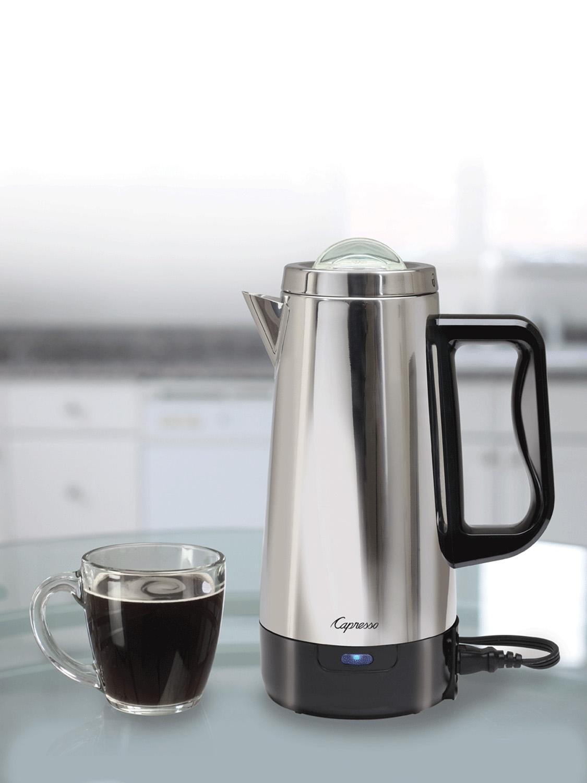 Capresso Stainless 12 Cup Coffee Perk Percolator 405 05