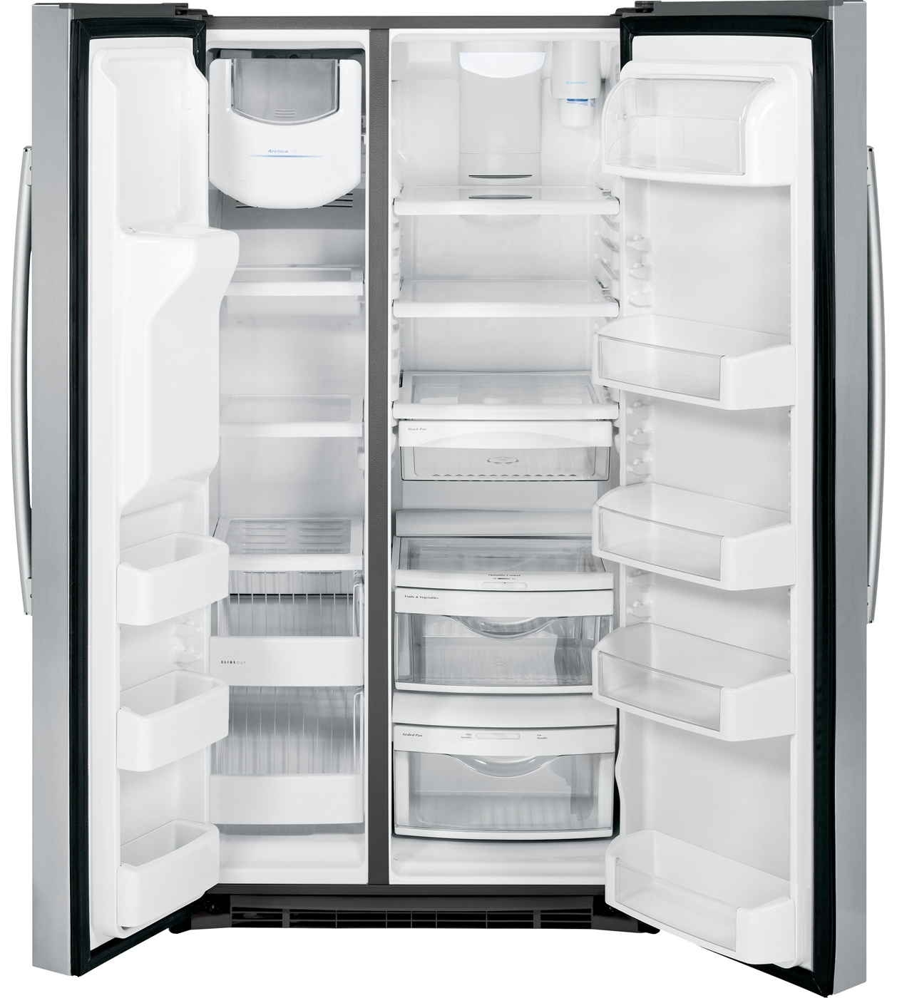 Ge 30 inch side by side white refrigerator - Main Image 1 2 3