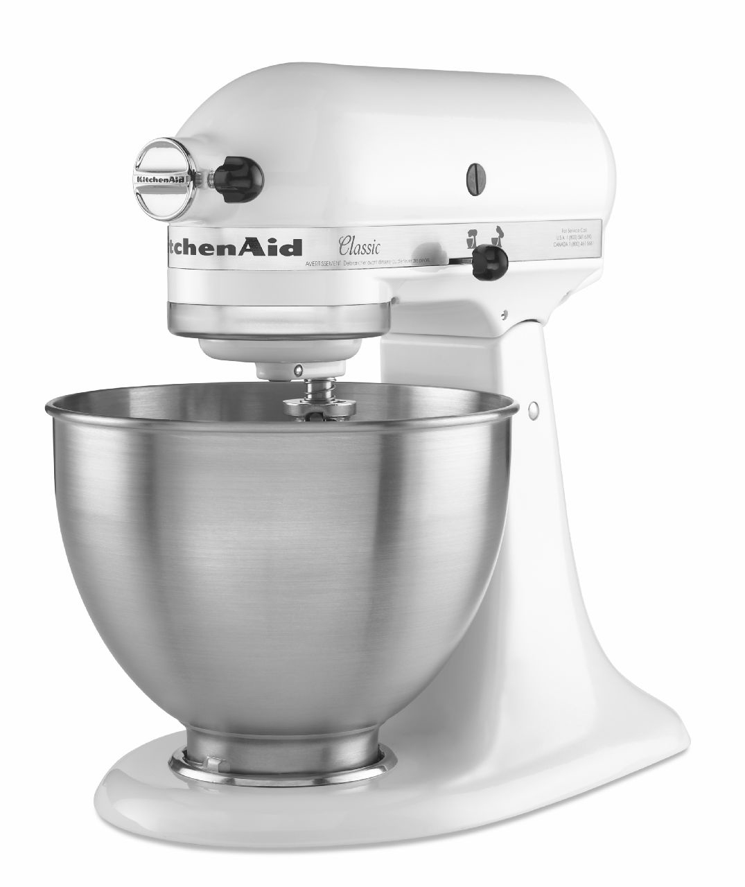 kitchenaid classic series white stand mixer k45sswh