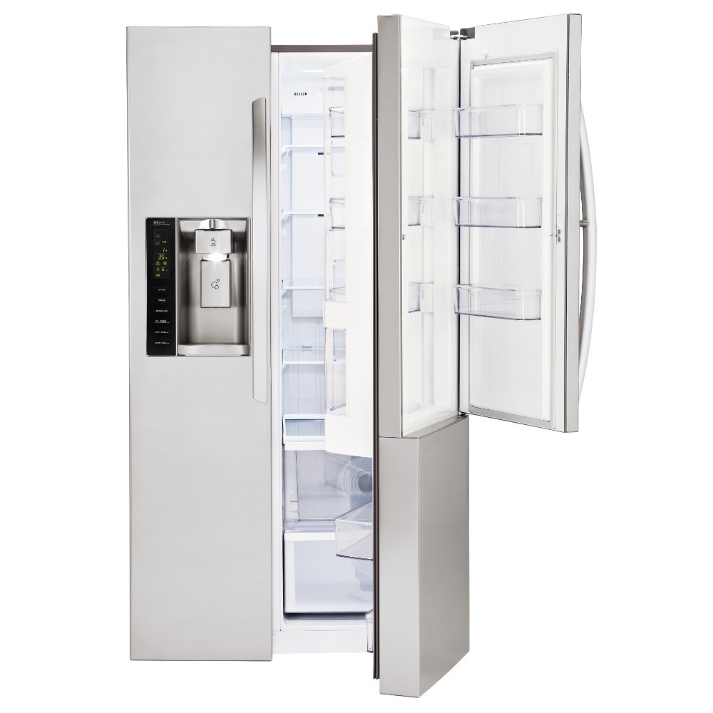 lg stainless steel side by side refrigerator lsxs26366s. Black Bedroom Furniture Sets. Home Design Ideas