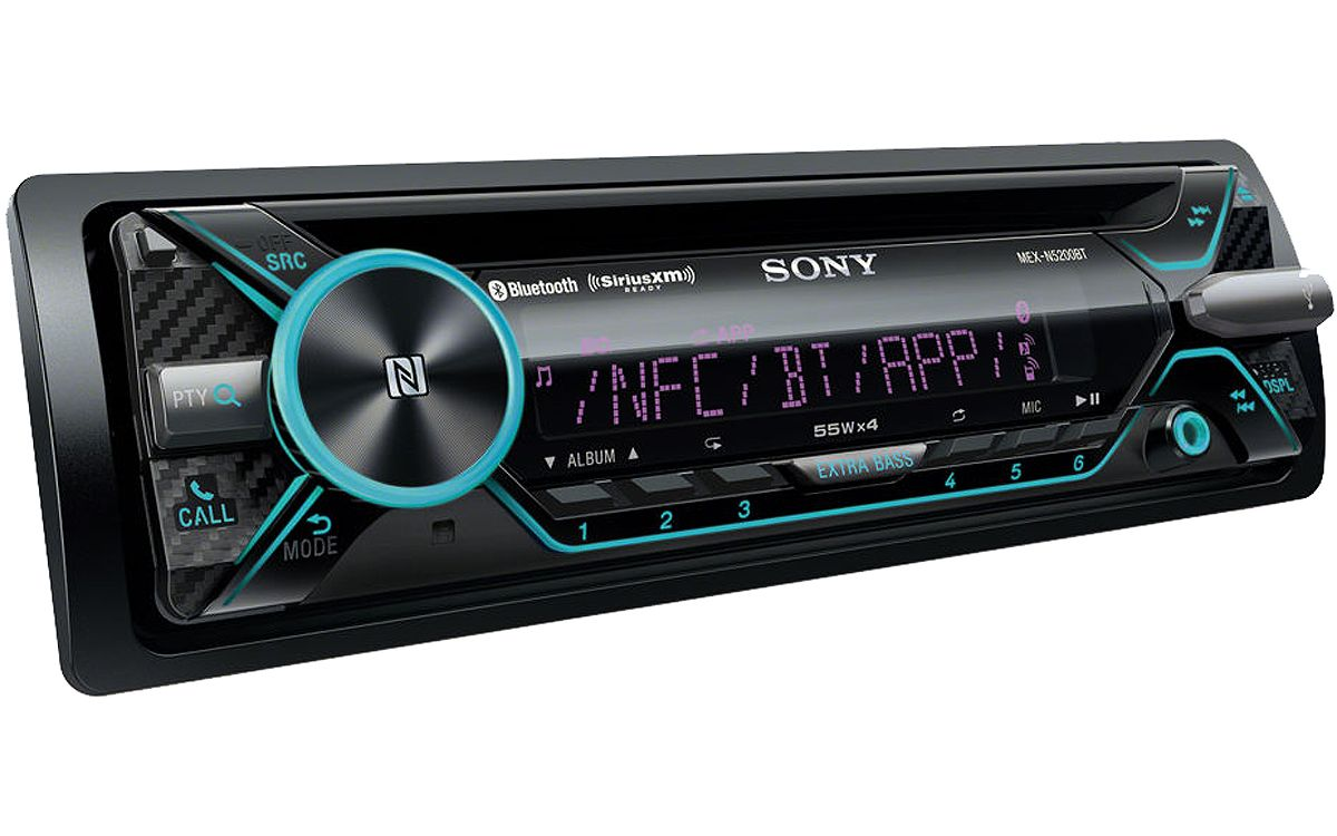 sony single din cd receiver with bluetooth mex n5200bt. Black Bedroom Furniture Sets. Home Design Ideas