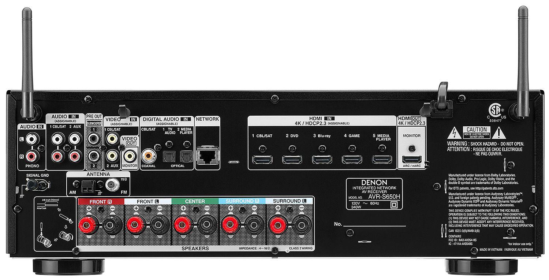 Denon 5 2 Channel AV Receiver With Voice Control