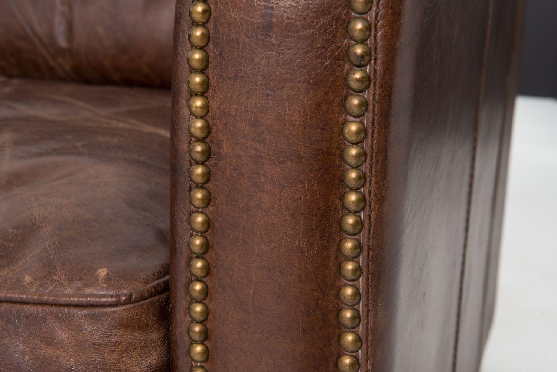 Four Hands 88 Cigar Brown Leather Larkin Sofa Ccar 25