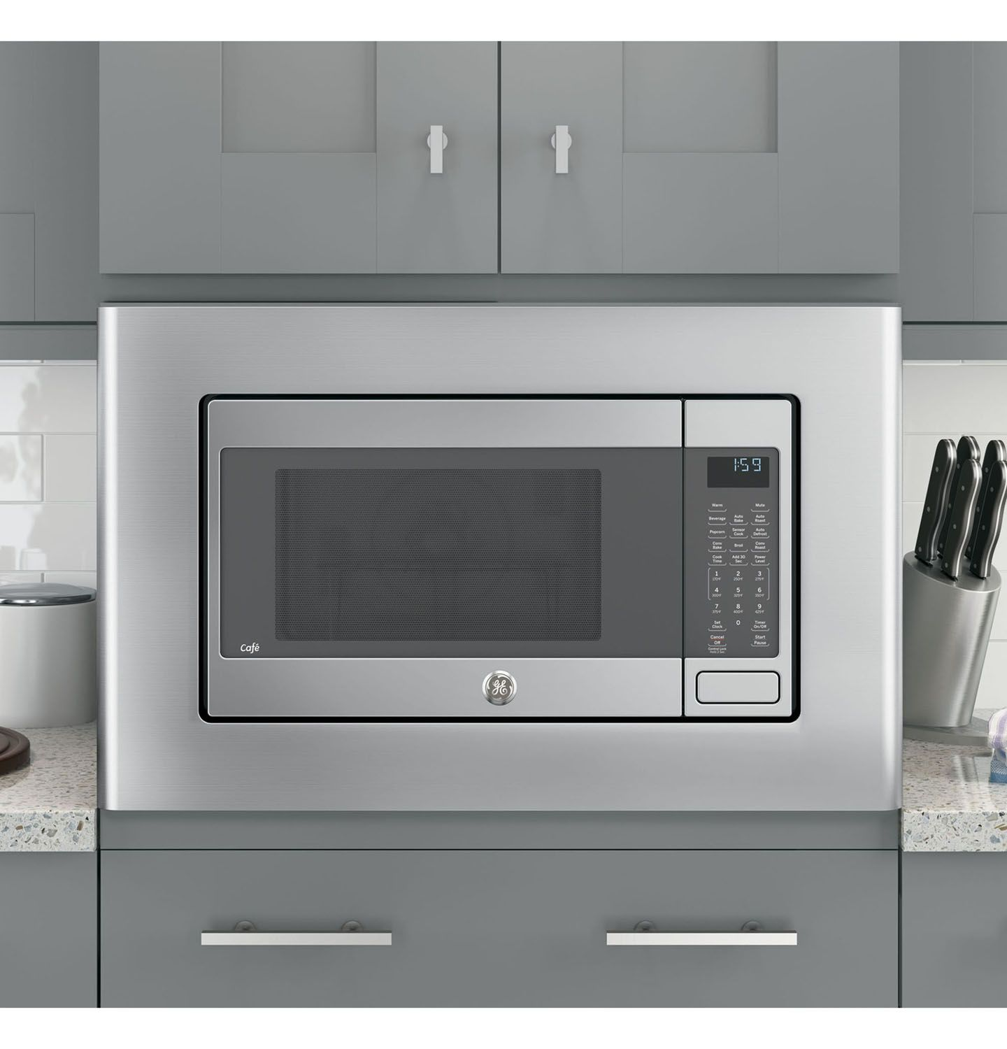 Ge Cafe Countertop Convection Microwave Oven Ceb1599sjss