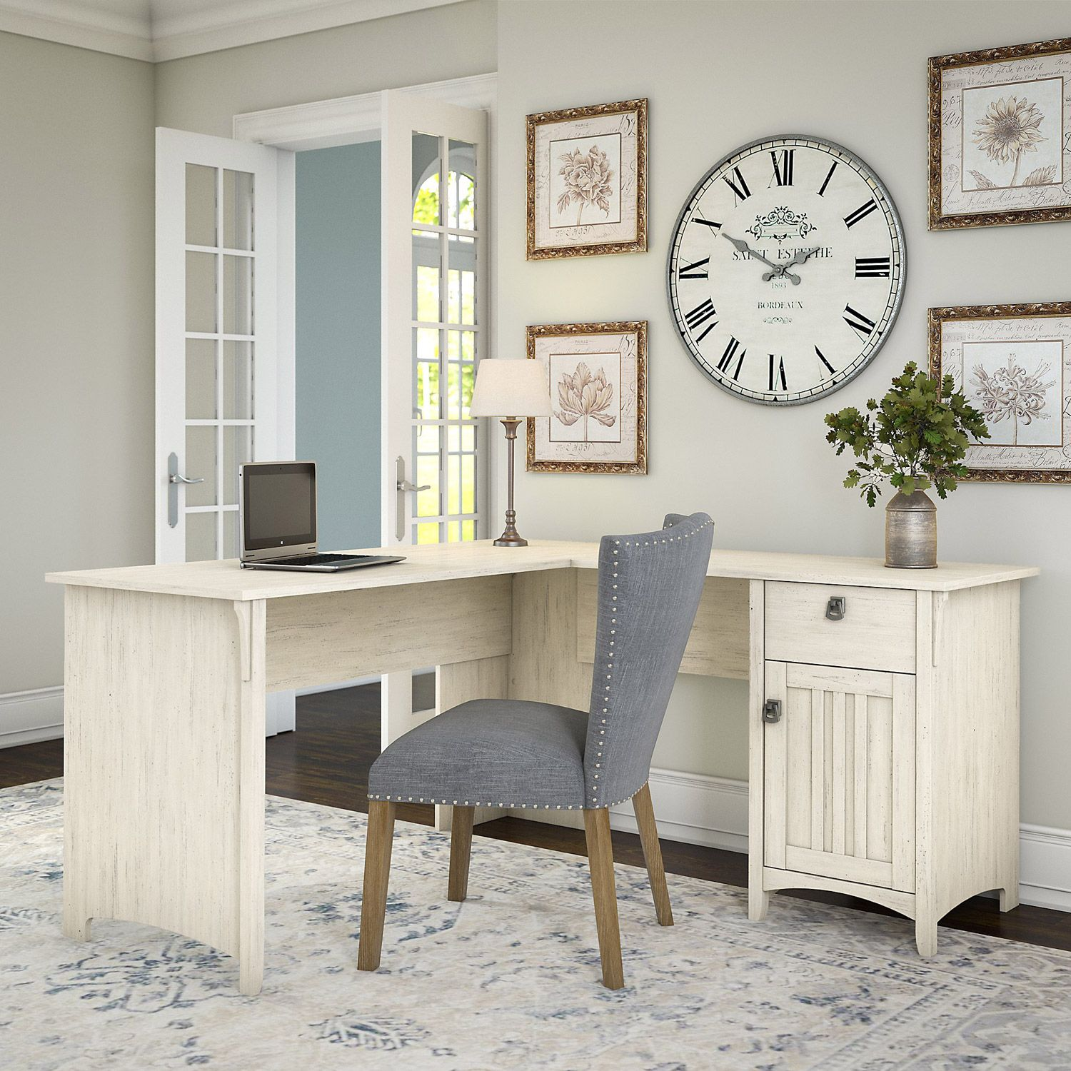 Bush Furniture Salinas L-Shaped Desk With Storage