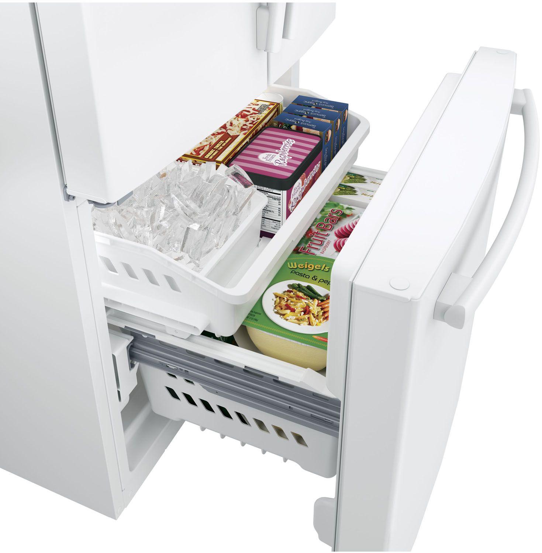 Ge white french door refrigerator gne25jgkww main image 1 2 3 4 rubansaba