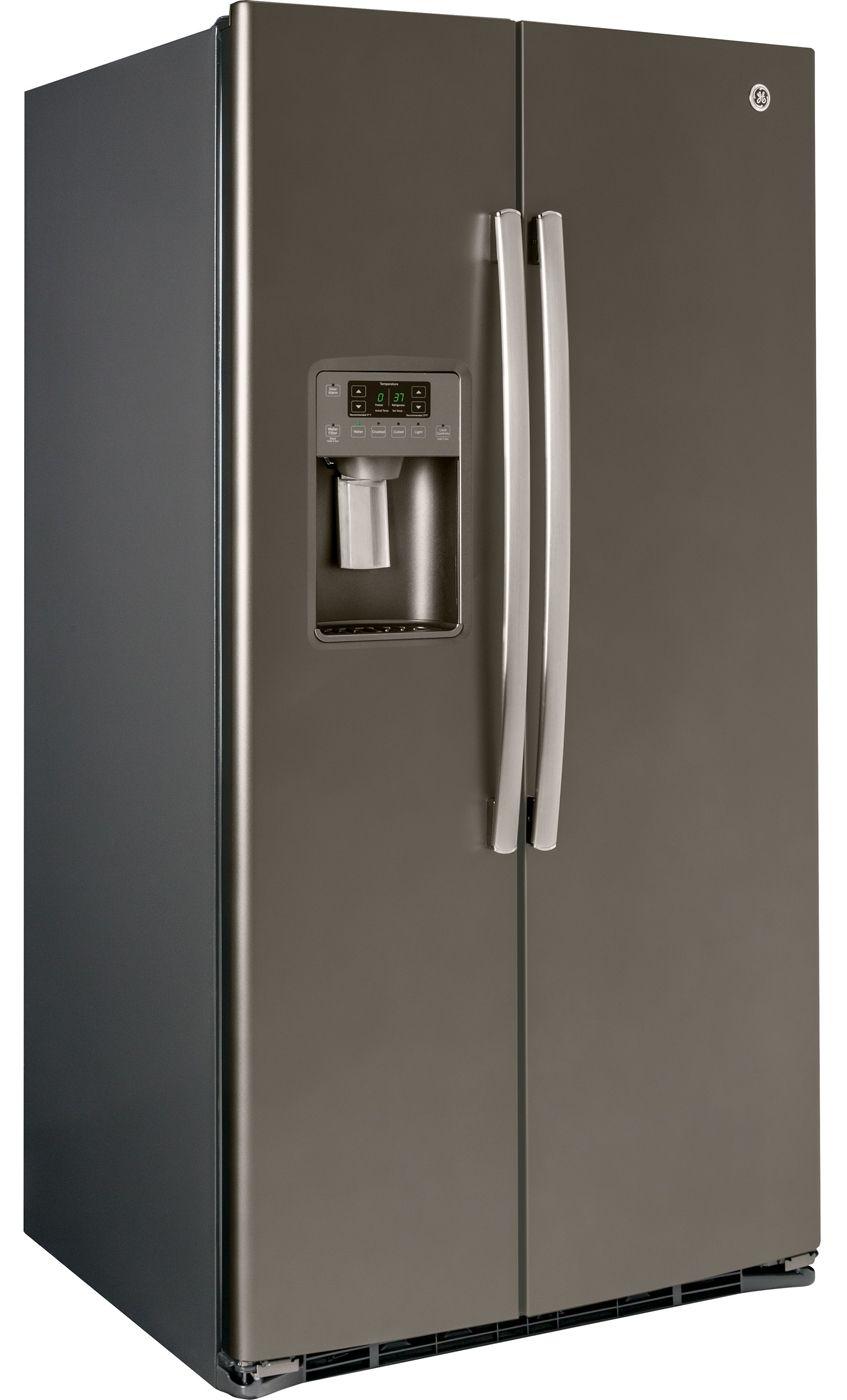 Design Ge Slate Refrigerator ge 25 4 cu ft side by refrigerator gse25hmhes main image 1 2 3 4