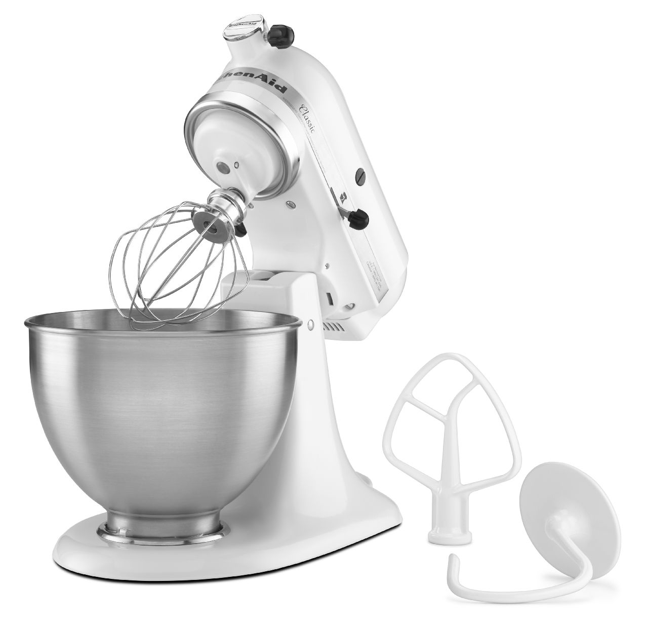 KitchenAid Classic Series White Stand Mixer - K45SSWH