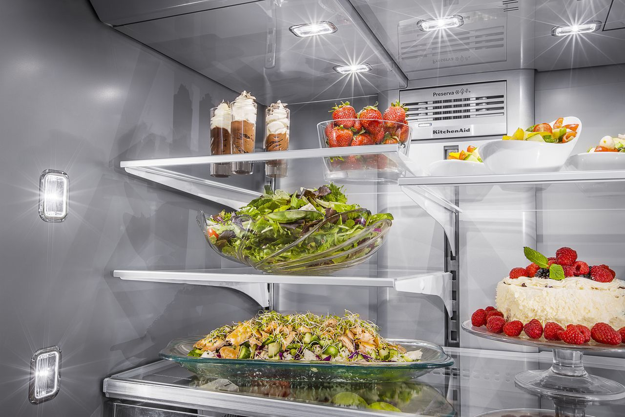 KitchenAid Black Stainless Refrigerator - KRMF706E