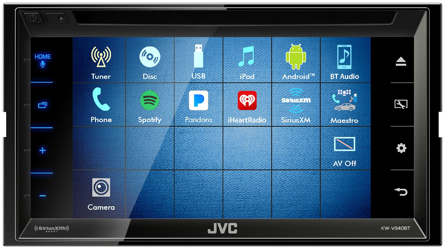 Jvc Double Din Multimedia Car Stereo Kw V340bt