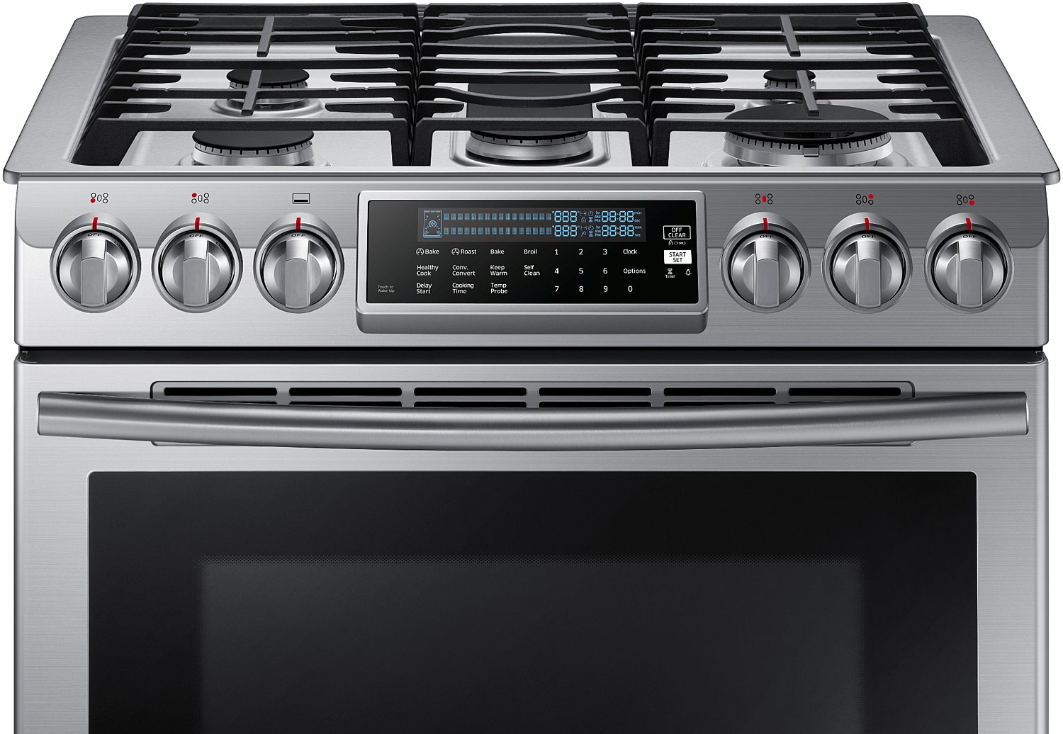 Gas Stainless Steel Cooktop Samsung Slide In Convection Gas Range Nx58h9500ws