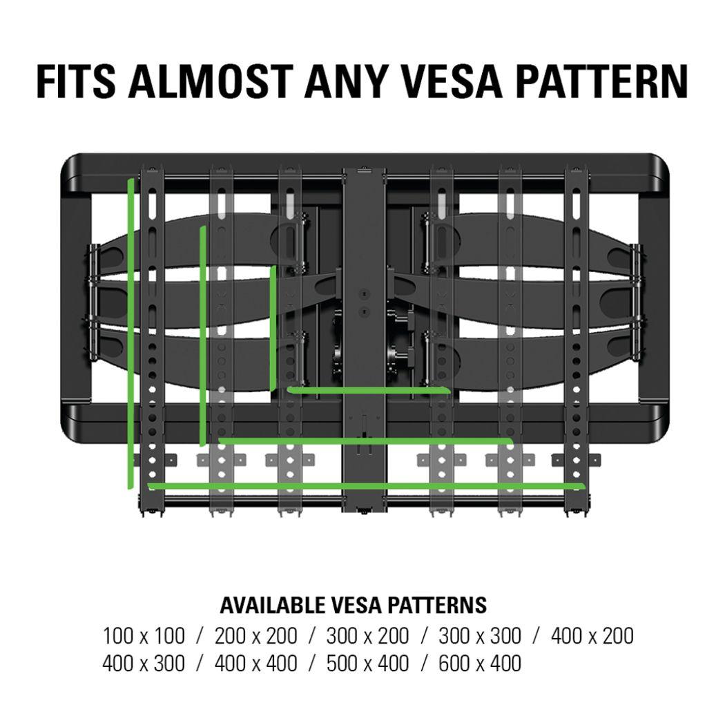 Sanus Slim Full Motion Flat Panel Tv Mount Vlf628 B1