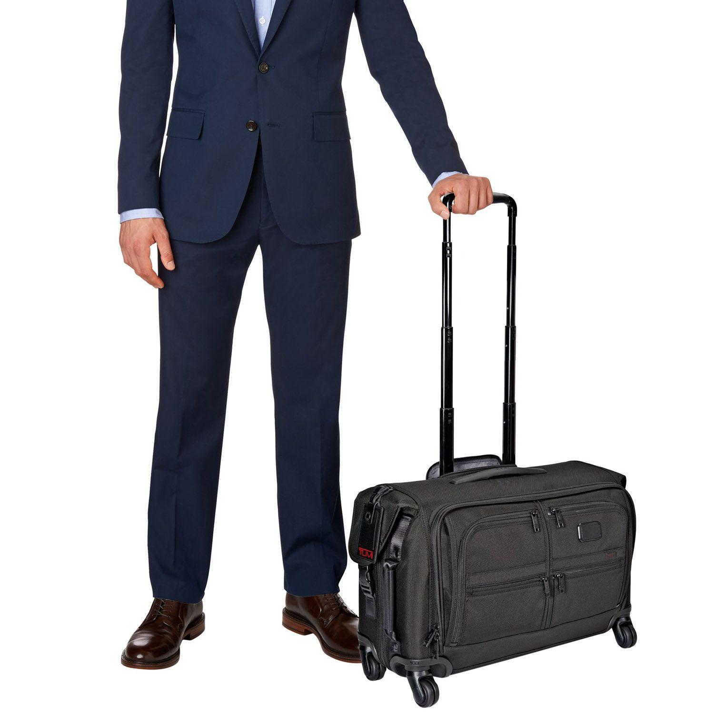 Tumi Alpha Black Carry-On 4 Wheeled Garment Bag -022038D2