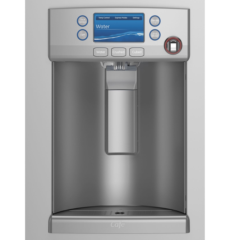 Ge Cafe Counter French Door Refrigerator Cye22tshss Lock Ampamp Ordinary Crisper Hpl932d700ml 5