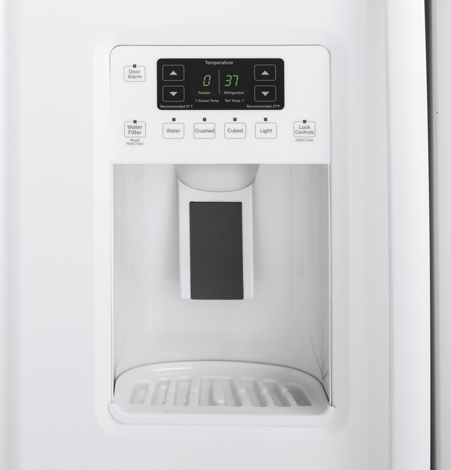 Ge 30 inch side by side white refrigerator - Main Image 1 2 3 4 5