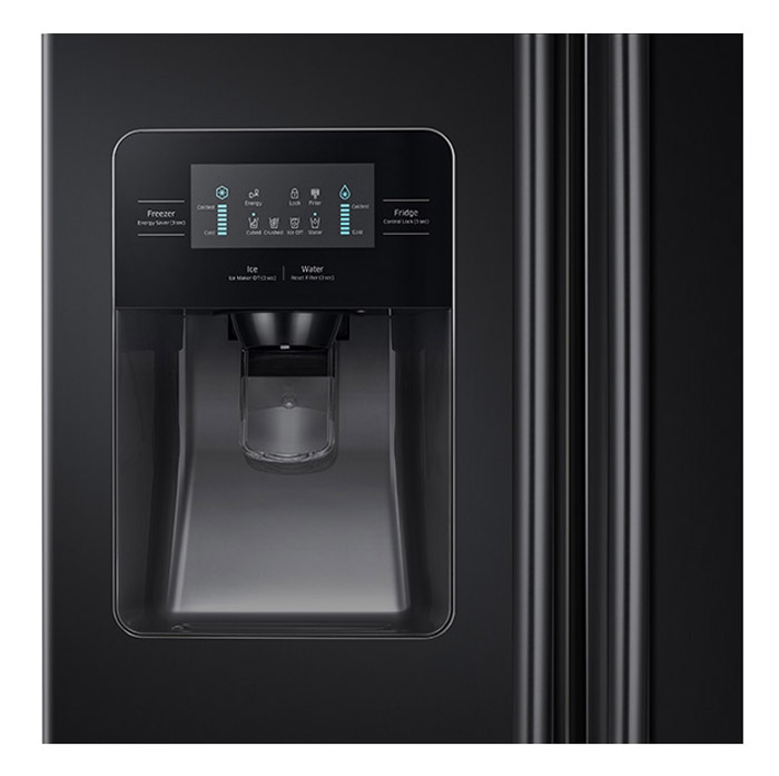Samsung Black Side By Side Refrigerator Rs25j500dbc Aa