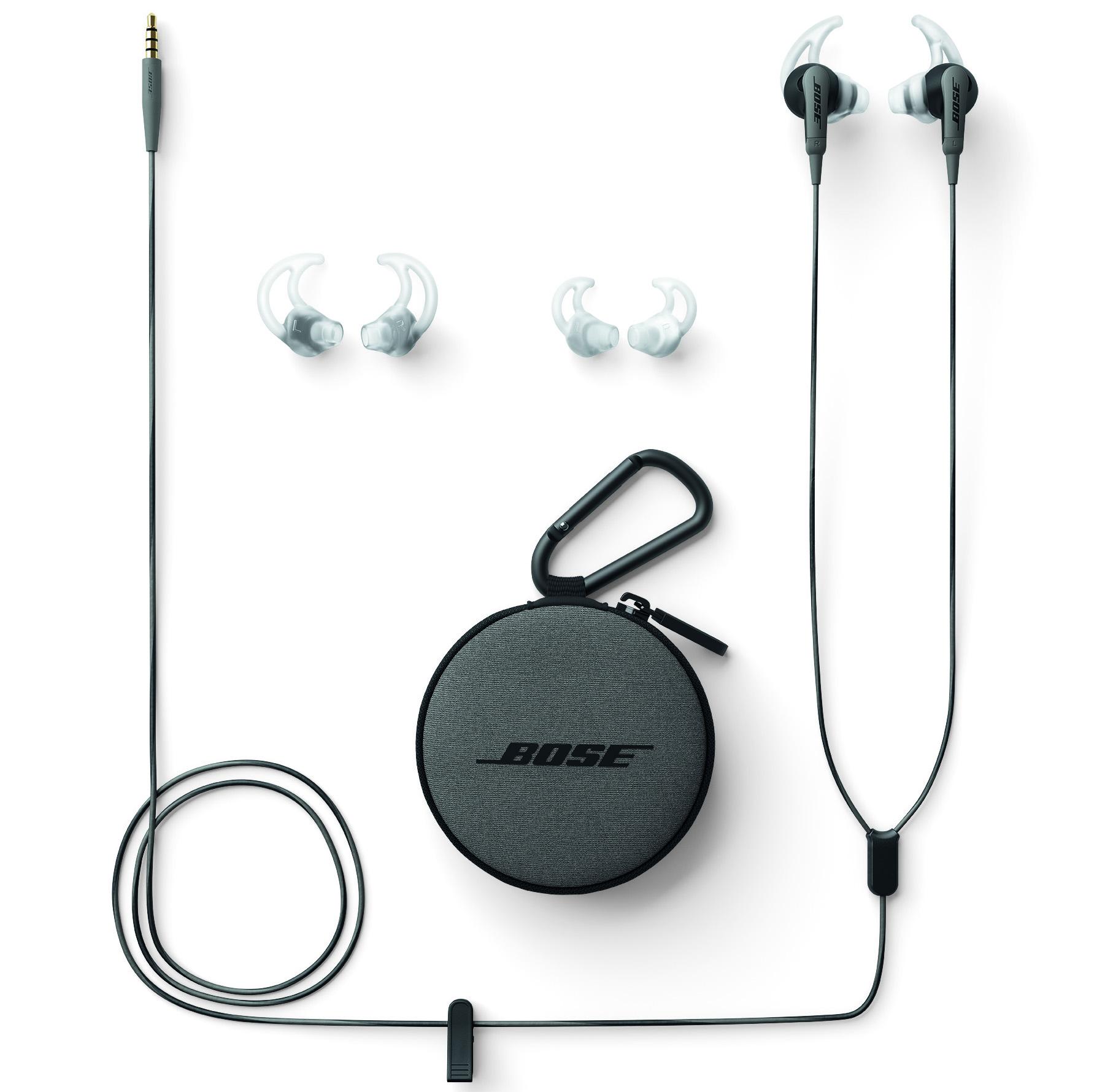 Bose SoundSport Apple Charcoal Black In-Ear Headphones - 741776-0010