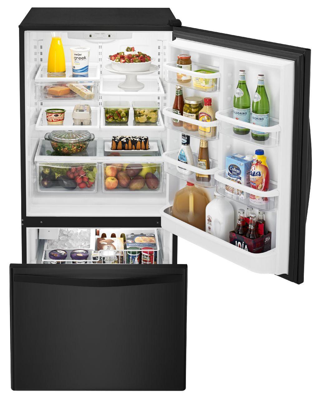 Whirlpool Black Bottom-Freezer Refrigerator - WRB329DMBB