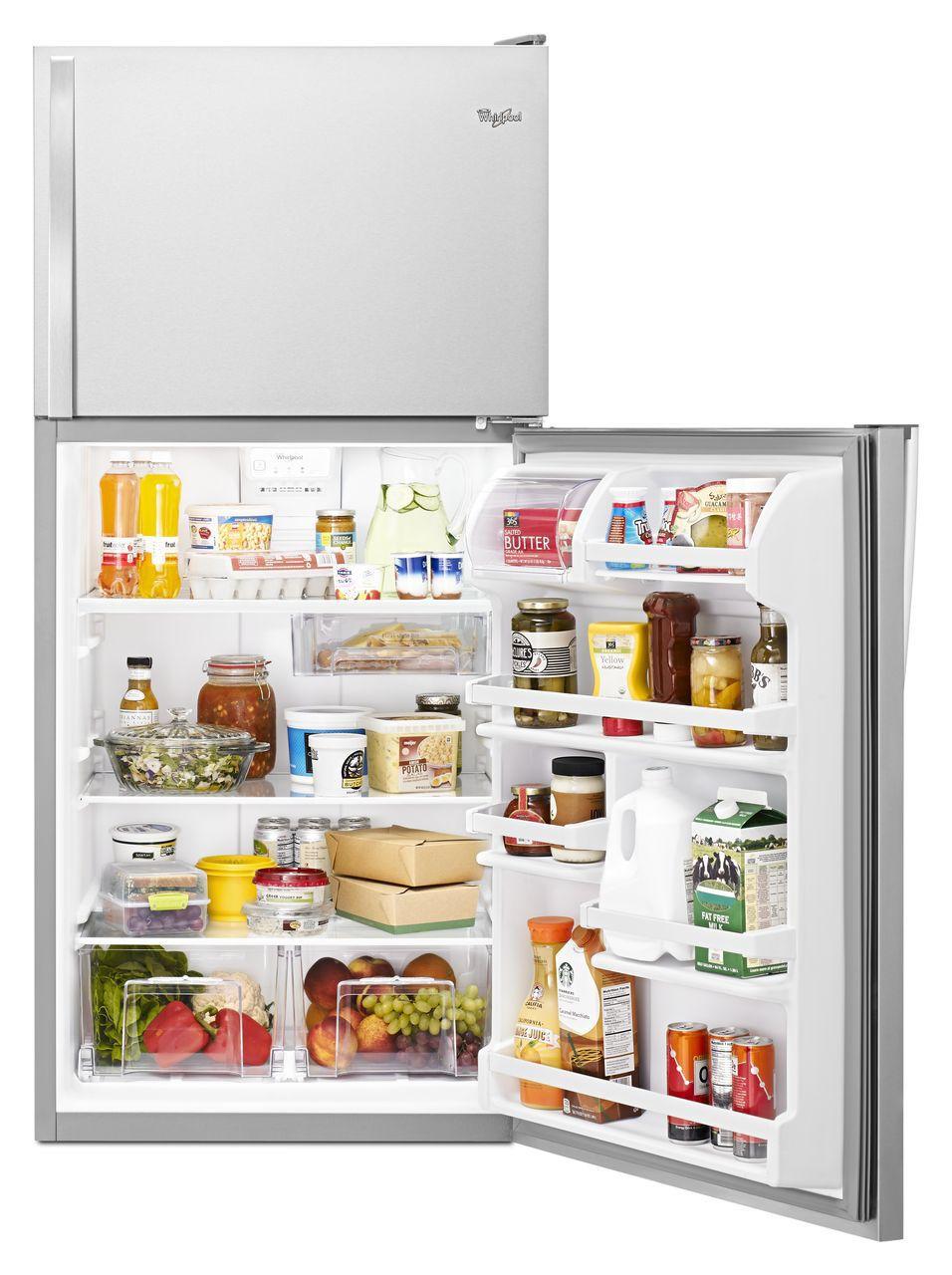 Whirlpool Stainless Top-Freezer Refrigerator-WRT318FZDMSS