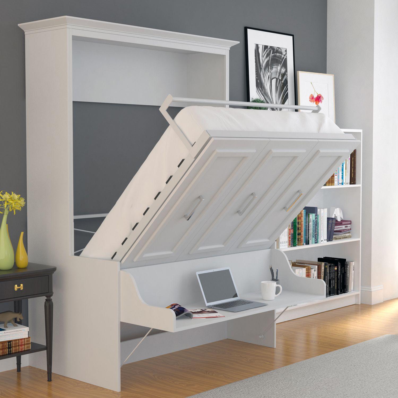 leto muro allegra full wall bed with desk alegdbdskp. Black Bedroom Furniture Sets. Home Design Ideas