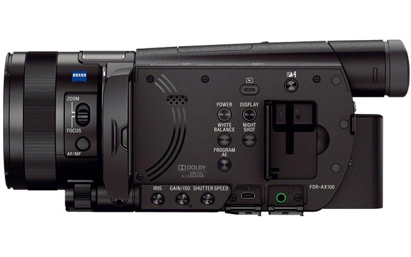 Sony Black 4k Camcorder With 1 Quot Sensor Fdrax100 B