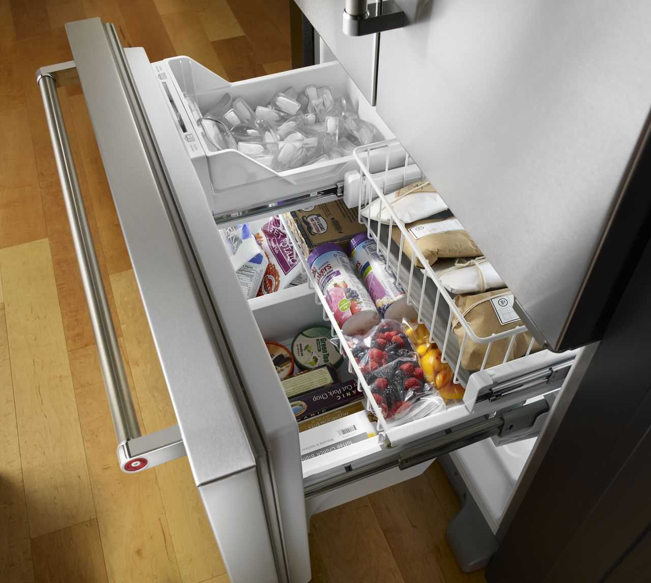 Kitchenaid Refrigerator Kitchenaid Overlay French Door Refrigerator  Krfc302Epa