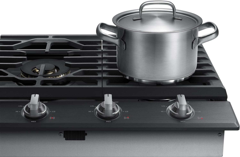 samsung 36 black stainless gas cooktop na36k7750tg. Black Bedroom Furniture Sets. Home Design Ideas