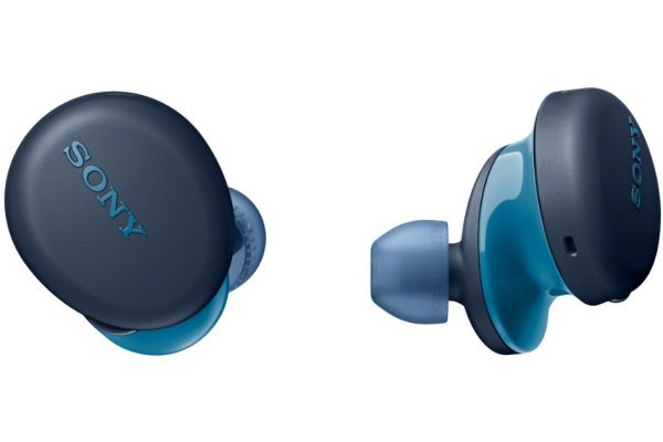 Large image of Sony EXTRA BASS Blue True Wireless Headphones - WFXB700/L