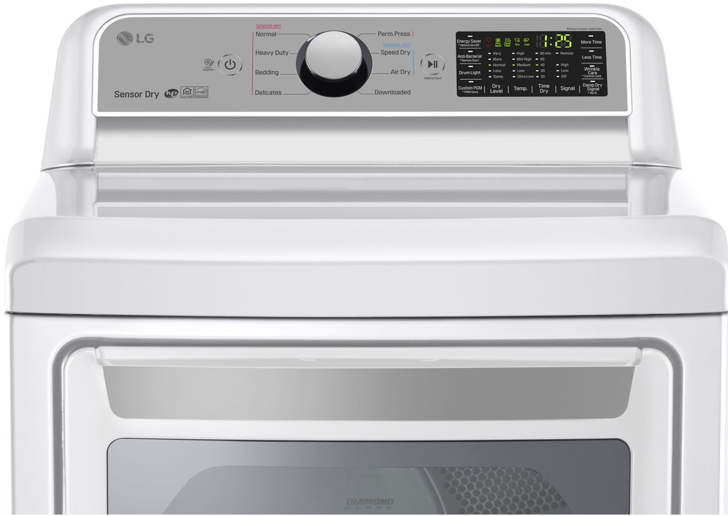 Lg White Super Capacity Gas Dryer Dlg7201we Together With Samsung Electric Clothes Additionally Maytag 7